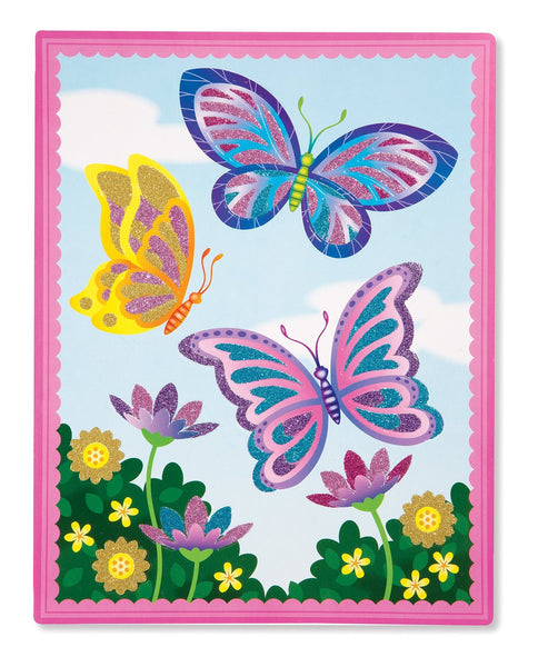Melissa & Doug Flower and Butterfly Scenes Book - ON the GO Craft Activity - Toyabella  - 3