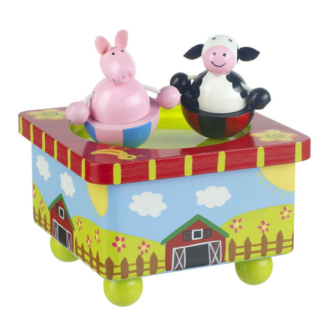 Farm Yard Music Box by Orange Tree Toys - Toyabella.com