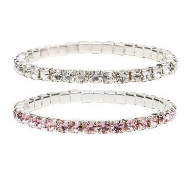 Great Pretenders Diamante Bracelet Set 2pcs (Pink & Clear) - Toyabella.com