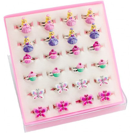 Great Pretenders Princess, Butterfly, Bow, and Flower Rings - Toyabella.com