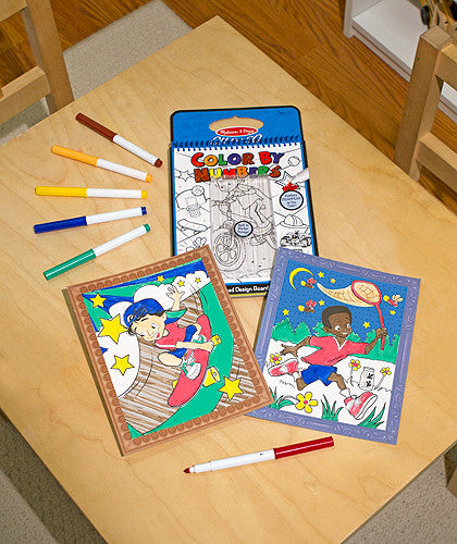Melissa & Doug Color By Numbers Blue Coloring Book - ON the GO Travel Activity - Toyabella  - 3