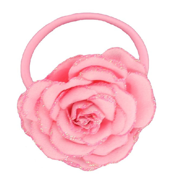 Great Pretenders Sparkly Rose Ponytail Holder - Toyabella.com