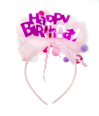 Great Pretenders Happy Birthday Headband with Pom Poms - Toyabella.com