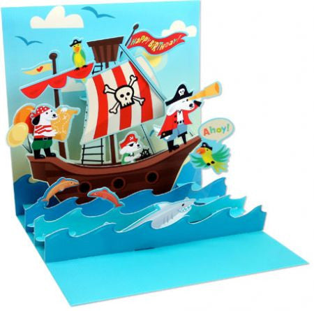 Pop-up Treasures Greeting Card - Dogs at Sea - Toyabella.com