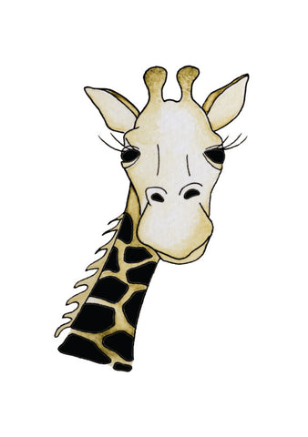 S.E. Hagarman Designs Greeting Card - Giraffe [Hand Embellished] - Toyabella.com