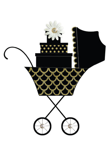 S.E. Hagarman Designs Greeting Card -  Swanky Stroller - Chic Card - Toyabella.com