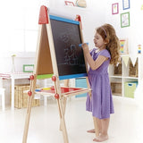 Hape All in 1 Adjustable Height Standing Art Easel - Toyabella.com