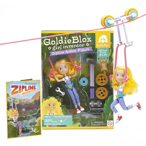 GoldieBlox Zipline Action Figure - Toyabella.com