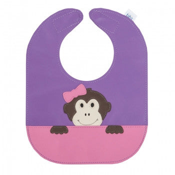 Girly Monkey Leather Bib - Toyabella.com