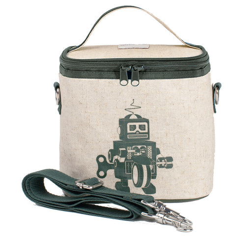 SoYoung Grey Robot Small Cooler Bag - Toyabella.com