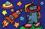 Emily Green's Imagination Placemat - Out Of This World - Toyabella.com