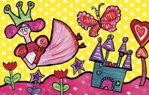 Emily Green's Imagination Placemat - Punky Love - Toyabella.com