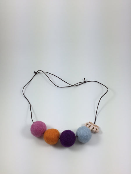 Handmade Feltball Necklace by Oli and Belle S1 - Toyabella.com