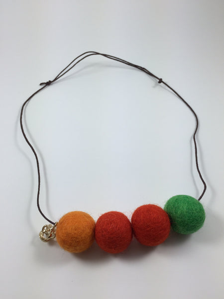 Handmade Feltball Necklace by Oli and Belle S5 - Toyabella.com