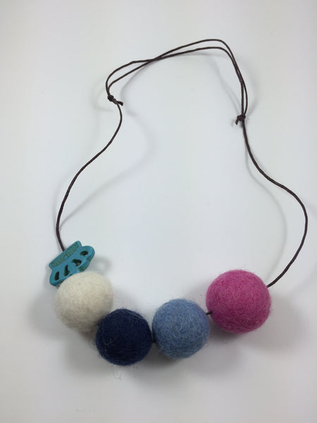 Handmade Feltball Necklace by Oli and Belle S8 - Toyabella.com