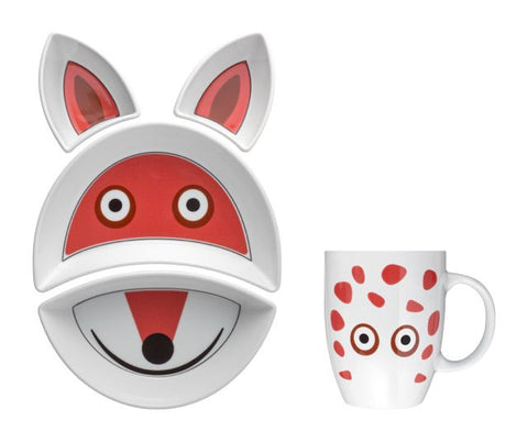 FOX Kit Pappa Plate & Cup Set by Flowerssori - Toyabella.com