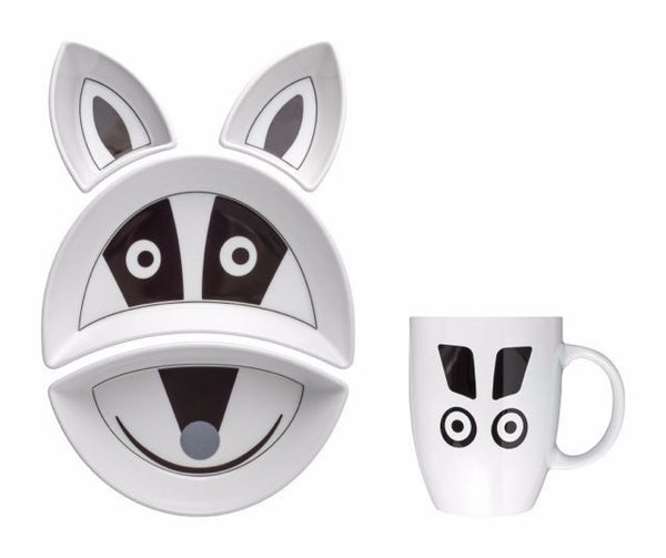 BADGER Kit Pappa Plate & Cup Set by Flowerssori - Toyabella.com