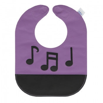 Music Notes Leather Bib - Toyabella.com