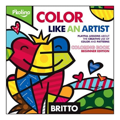 Britto Color Like an Artist Coloring Book by P'kolino - Toyabella.com