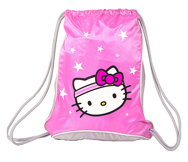 Hello Kitty Sports Sackpack - Pink/Grey - Toyabella.com