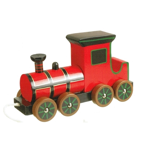 Wooden Pull Along Steam Train by Orange Tree Toys - Toyabella.com