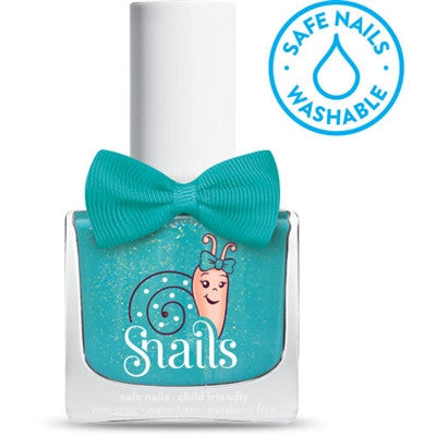SPLASH LAGOON - Teal Snails Washable Polish - Toyabella.com