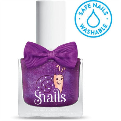 Raspberry Pie - GLOSSY PURPLE Snails Nails Washable Polish - Toyabella.com