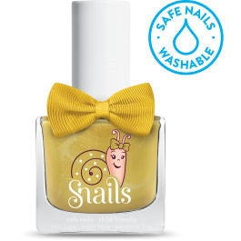 Make a Wish - GOLD Snails Nails Washable Polish - Toyabella.com