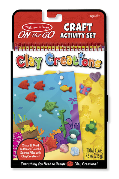 Melissa & Doug Clay Creations Book - ON the GO Craft Activity - Toyabella  - 1