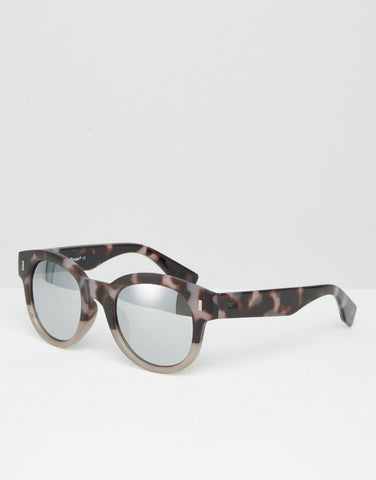 AJ Morgan Round Ombre Designer Sunglasses for Women - Matte Leopard - One Size - Toyabella.com