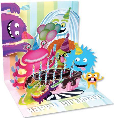 Pop-Up Treasures Greeting Card - Monsters - Toyabella.com