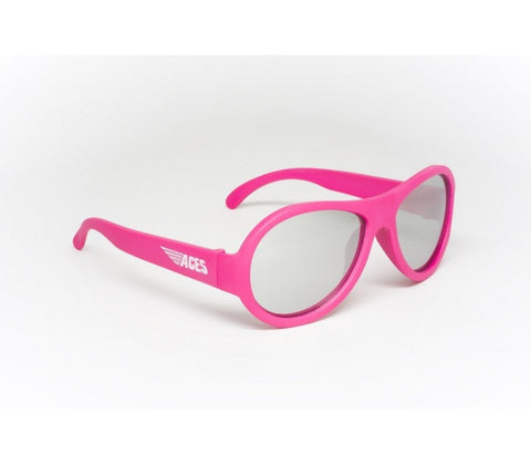 Babiators Aces Aviators Popstar Pink Kids Sunglasses with Mirrored Lens Ages 7-14 - Toyabella.com