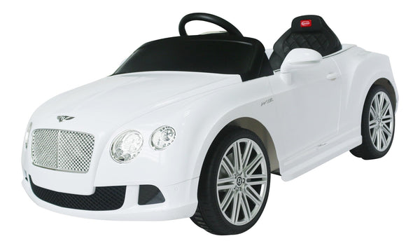 Rastar Bentley Continental GT Ride-On Car 12v White - Toyabella.com