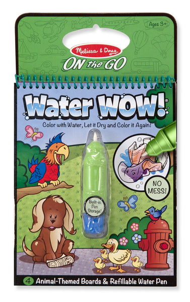 Melissa & Doug Animals Water Wow Book - ON the GO Travel Activity - Toyabella  - 1