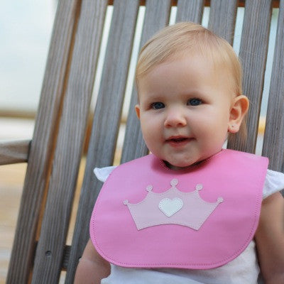 Crown Leather Bib - Toyabella.com