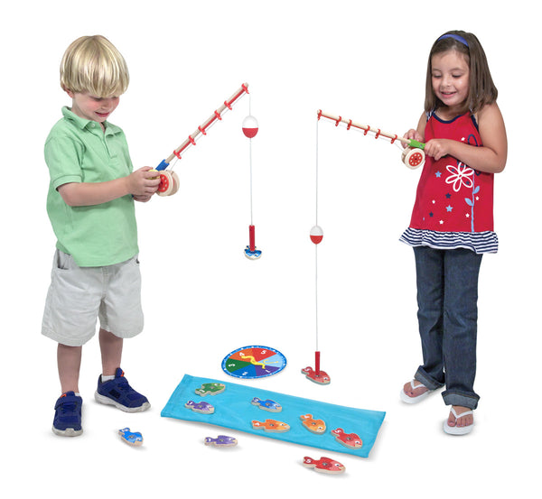 Melissa & Doug Catch and Count Magnetic Fishing Rod Game - Toyabella  - 3