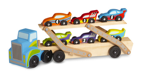Melissa & Doug Mega Race-Car Carrier - Toyabella  - 1