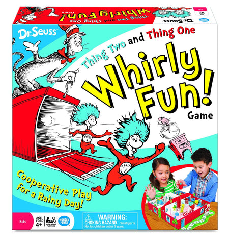 Dr. Seuss Thing Two Thing One Whirly Fun Game - Toyabella.com