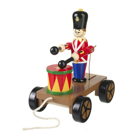 Drumming Soldier On Wheels Pull Along by Orange Tree Toys - Toyabella.com