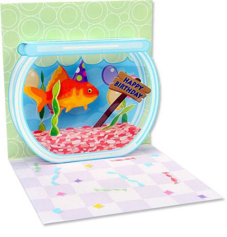 Pop-Up Treasures Greeting Card - Goldfish Birthday - Toyabella.com