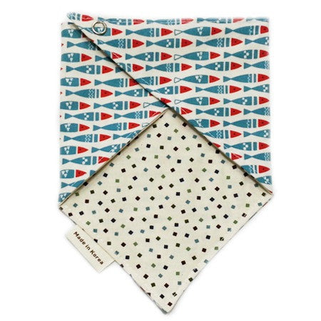 Scandi Fish Reversible Scarf Bib by Oli & Belle - Toyabella.com