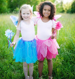Great Pretenders Fancy Flutter Skirt/Wings & Wand Set Pink or Blue - Toyabella.com