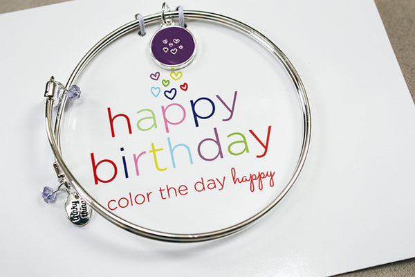 "Birthday ""Colorful Day"" - Meaningful Message Bracelet Set - Toyabella.com"