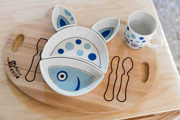 FISH Kit Pappa Plate & Cup Set by Flowerssori - Toyabella.com
