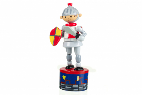Knight Push Up Toy by Orange Tree Toys - Toyabella.com