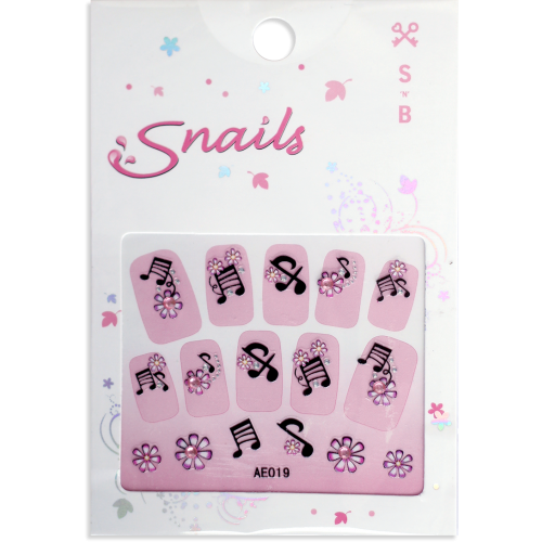 Stickers for Nails - Little Miss Diva - Musical - Snail Nails - Toyabella.com