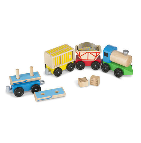 Melissa & Doug Classic Wooden Toy Cargo Train - Toyabella  - 1