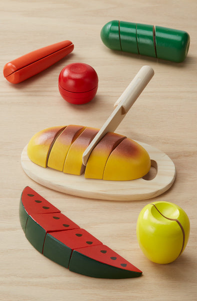 Melissa & Doug Cutting Food - Wooden Play Food - Toyabella  - 4