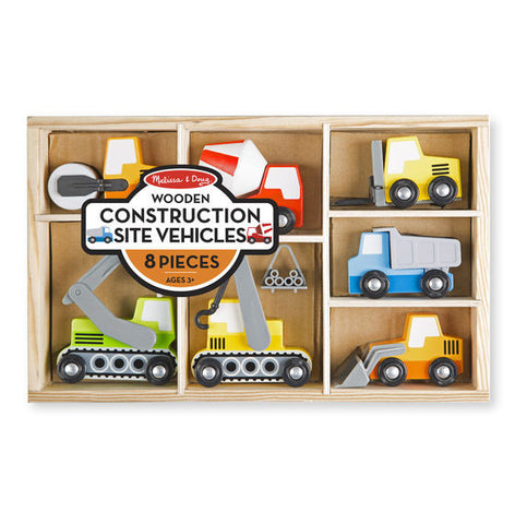 Melissa & Doug Wooden Construction Site Vehicles - Toyabella  - 1