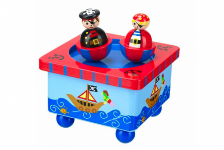 Pirate Music Box by Orange Tree Toys - Toyabella.com